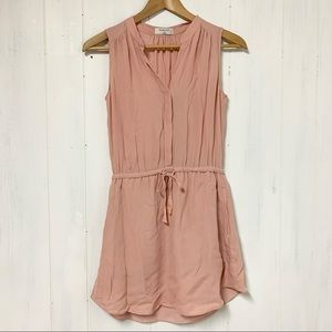Babaton Benedict Silk Dress Blush Size XS